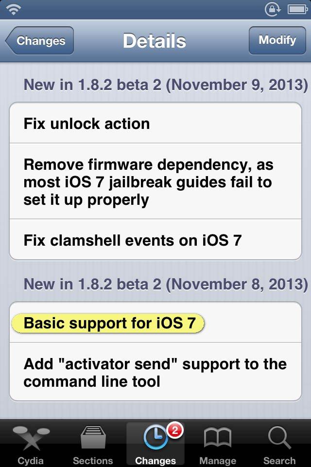 activator beta for ios 7