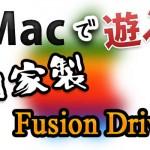 [Mac] 噂のFusion Driveを自分のSSD&外付けHDDを使って自家製で構築してみる。