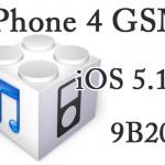 iPhone 4 GSMモデルのみ『iOS 5.1.1 9B208』がコソっとリリースされる