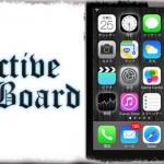 ActiveBoard - バックグラウンド動作中のアプリはアイコンが光ってお知らせ