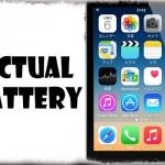 Actual Battery - より正確な実際のバッテリー残量をステータスバーに表示