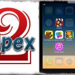Apex 2 (iOS 7,8,9) - フォルダとは違う!アプリの裏に4つのアプリを収納!