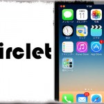 Circlet - アンテナ・WiFi・バッテリーを円形アイコンに変更