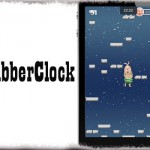 GrabberClock - 全画面時の通知センター呼び出しツマミに時間を表示