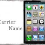 No Carrier Name - ステータスバーからキャリアロゴを非表示にする [JBApp]