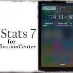 N Stats 7 for NC - 通知センターにメモリ・ディスク・通信状況を表示!