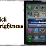 QuickBrightness - Activatorから明るさを変更するバーを呼び出し [JBApp]