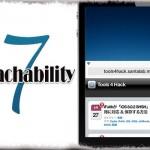 Reachability7 - 新機能「片手モード」をiOS 7デバイスでも使う!