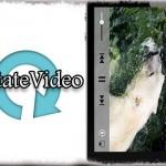 RotateVideo - 動画の再生時は自動で横画面に!