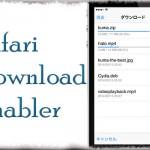 Safari Download Enabler - Safariにダウンロード機能を追加!! 動画なども!! [JBApp]