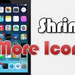 アイコンサイズ変更「Shrink」 & アイコン数変更「More Icons」がiOS 7に対応したよ!!