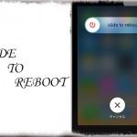 Slide to Reboot - 純正の電源オフスライダーから再起動の実行も可能に