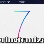 超期待!! 定番脱獄アプリのiOS 7対応版「Springtomize 3」の開発が始まる!! [JBApp]