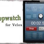 Stopwatch for Velox - 時計アプリ(Velox)にストップウォッチ機能を追加 [JBApp]
