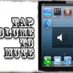TapVolumeToMute - ボリューム画面を1タップで音量ゼロに [JBApp]