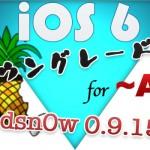 [iOS] iOS 6からダウングレードする新しい方法 for 〜A4デバイス 『Redsn0w 0.9.15b』