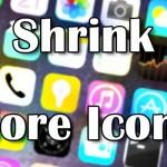 アイコンサイズ変更「Shrink」&アイコン数変更「More Icons」がiOS 8に対応!! [JBApp]