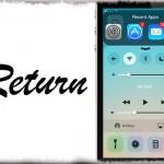 Return - コントロールセンターの上部にアプリ履歴を [JBApp]