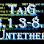 脱獄アプリを使用可能に「TaiG 8.1.3-8.x Untether v2.1」の手動インストール手順 [JBApp]