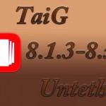 今度こそ「TaiG 8.1.3-8.x Untether v2.1.2」がCydiaからアップデート可能に!!
