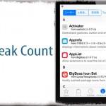 Tweak Count - インストールしている脱獄アプリ数をCydia内に表示 [JBApp]