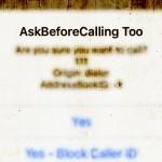 電話の誤発信を防止&プレフィックス発信も「AskBeforeCalling Too」ベータ版 [JBApp]