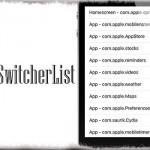AppSwitcherList - アプリスイッチャーをすごく使いづらいリスト表示に [JBApp]