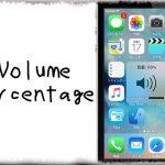 VolumePercentage - 音量HUDにボリュームレベルの数値も表示 [JBApp]