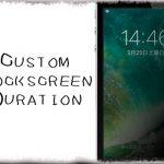 CustomLockscreenDuration - ロック画面が自動スリープまでの時間を変更 [JBApp]