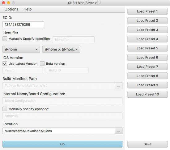 update-blobsaver-v11-preset-10-support-save-beta-shsh-2