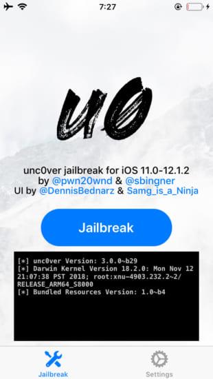 release-unc0ver-v300-beta29-support-ios120-1212-jaiblreak-2