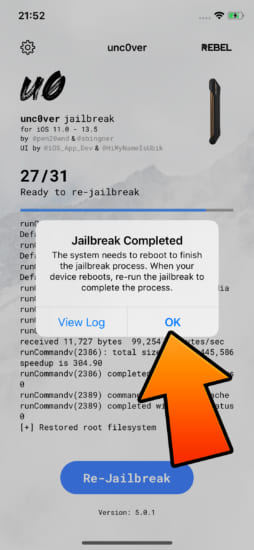 howto-restore-rootfs-unc0ver-v50x-remove-jailbreak-6