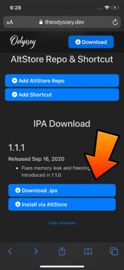 update-ios13-135-jailrbeak-odyssey-v111-fix-freeze-and-memory-leak-2
