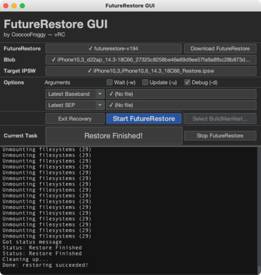 howto-futurerestore-gui-no-command-required-version-10