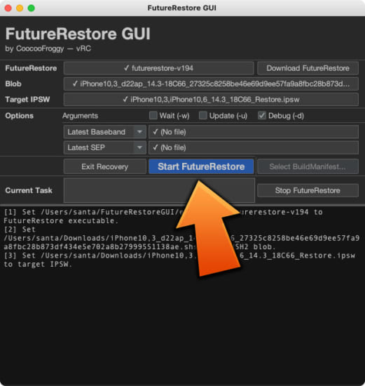 howto-futurerestore-gui-no-command-required-version-6