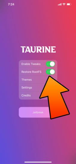 howto-taurine-v1-restore-rootfs-remove-jailbreak-2